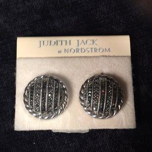 Judith Jack Sterling & Marcasite Earrings